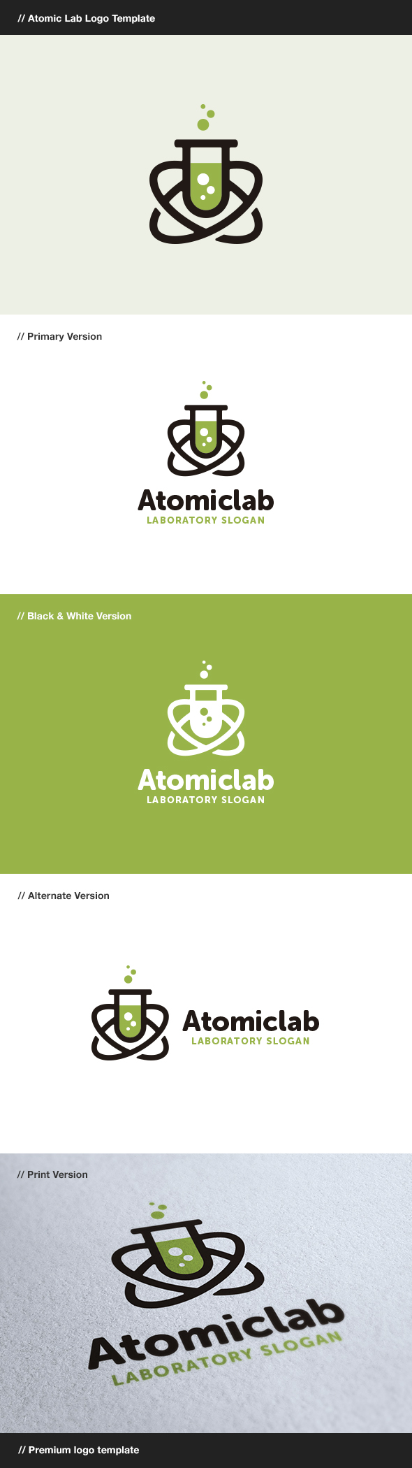 GraphicRiver Atomic Lab Laboratory Logo 8138791