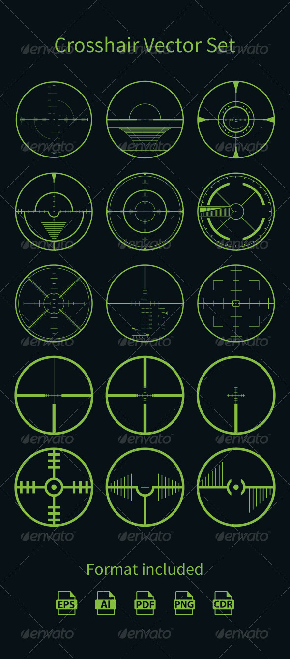 GraphicRiver Crosshair Vector Set 8138794