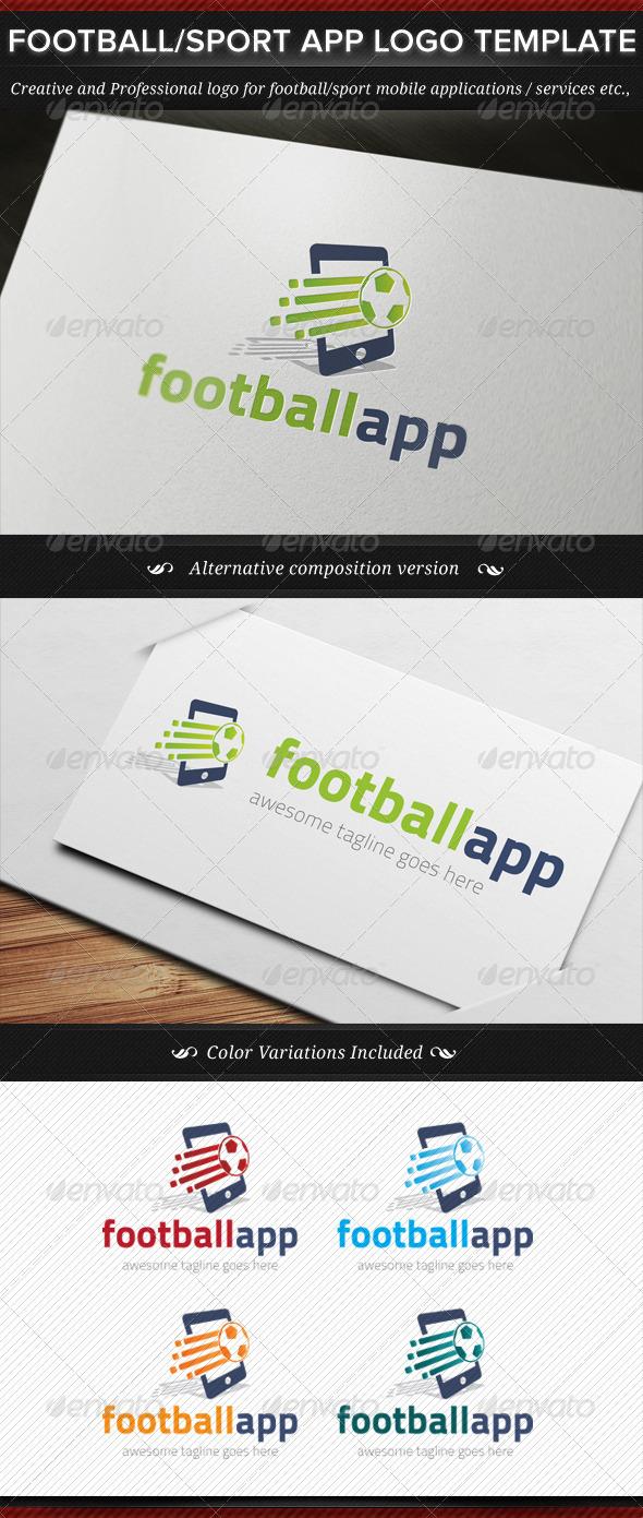 GraphicRiver Football Sport App Logo Template 8138850