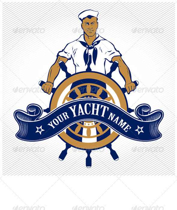 GraphicRiver Sailor Ship Wheel Man 834058