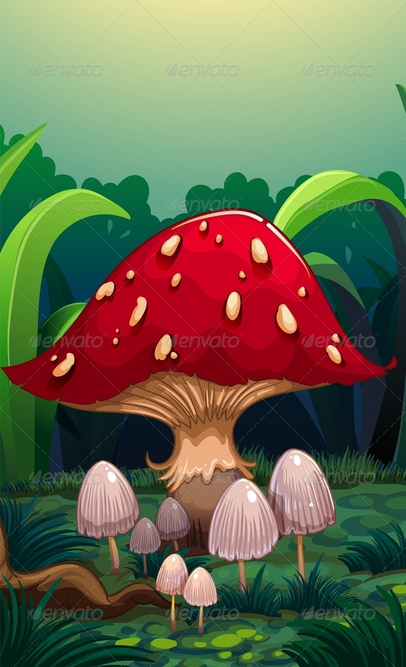 GraphicRiver A big red mushroom 8138918