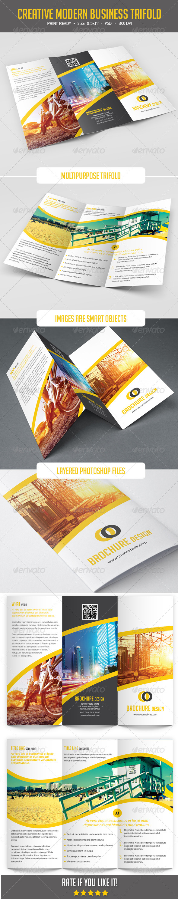 GraphicRiver Modern Corporate Tri-Fold Brochure 8138923