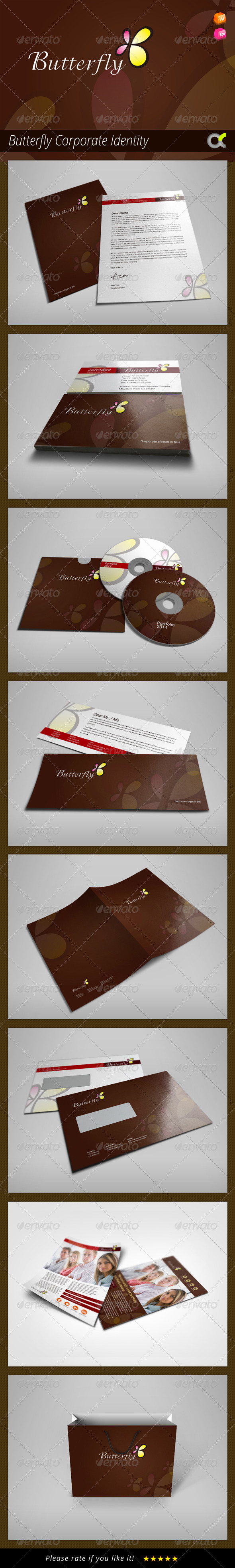 GraphicRiver Butterfly Corporate Identity 8132356
