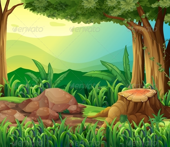 GraphicRiver The tree trunk 8138938