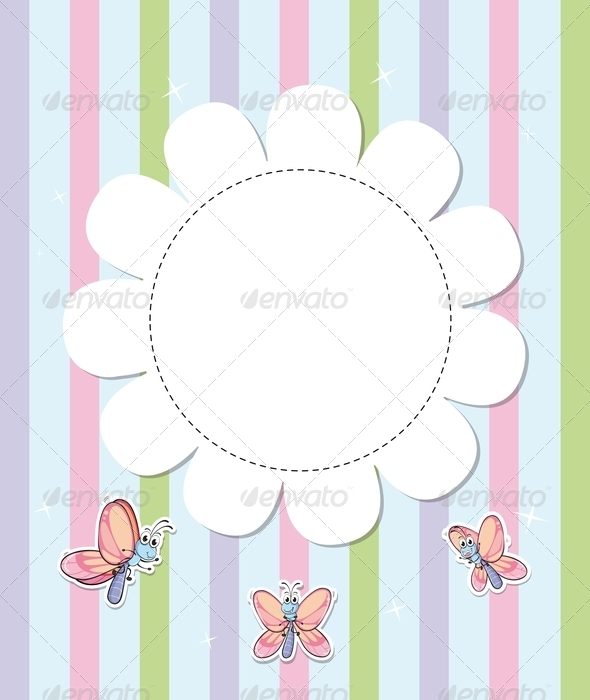 GraphicRiver Stationery with three butterflies 8138986