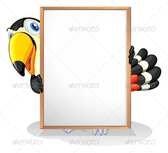 GraphicRiver Toucan with Empty Sign 8138997