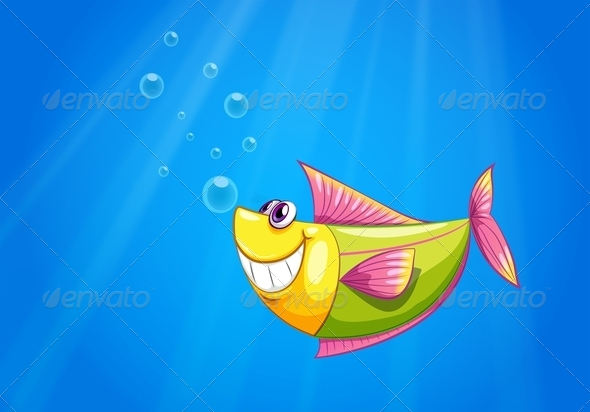 GraphicRiver A fish in the sea 8139018