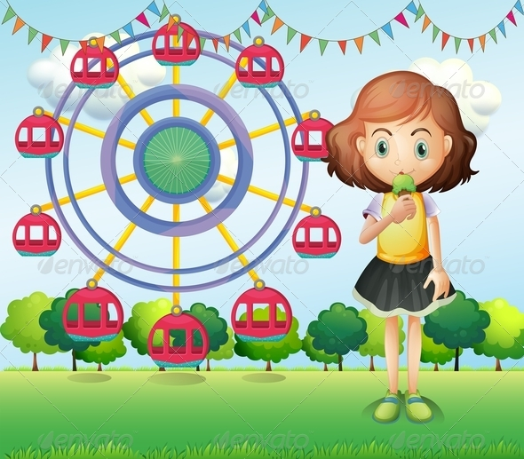 GraphicRiver A girl at the carnival 8139029