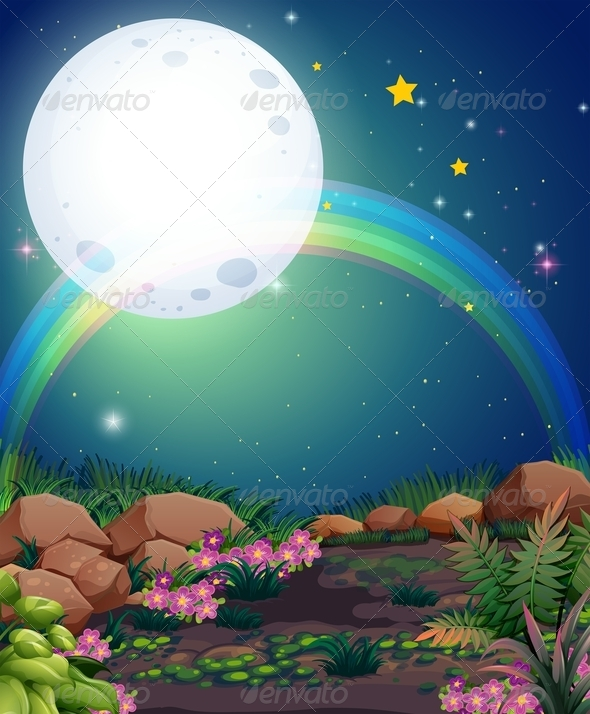 GraphicRiver A rainbow at night 8139064