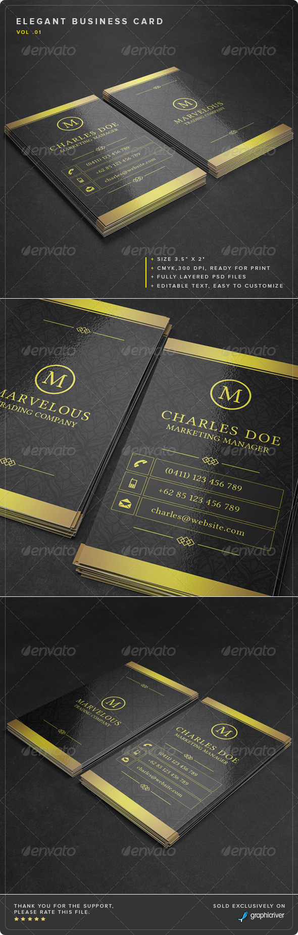 GraphicRiver Elegant Business Card Vol 01 8139075