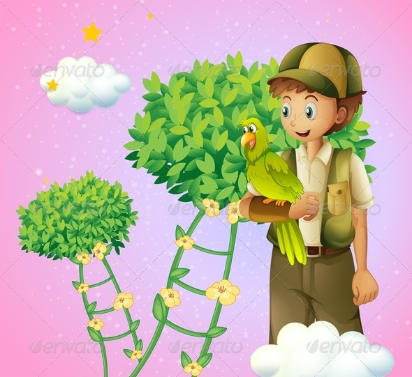 GraphicRiver Boy holding a bird 8139103
