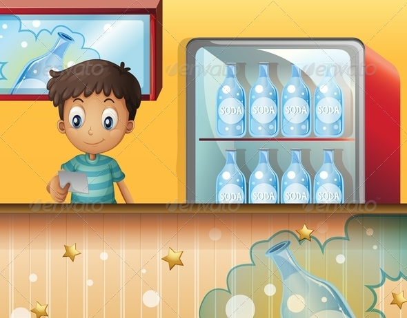 GraphicRiver A boy in the soda shop 8139105