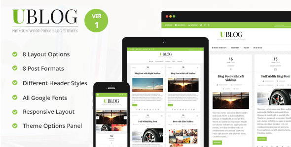 ThemeForest UBlog Responsive WordPress Theme for Bloggers 8071192