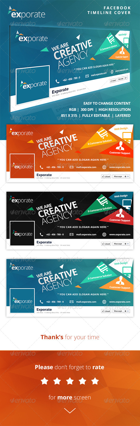 GraphicRiver Exporate Facebook Timeline Cover 8140038