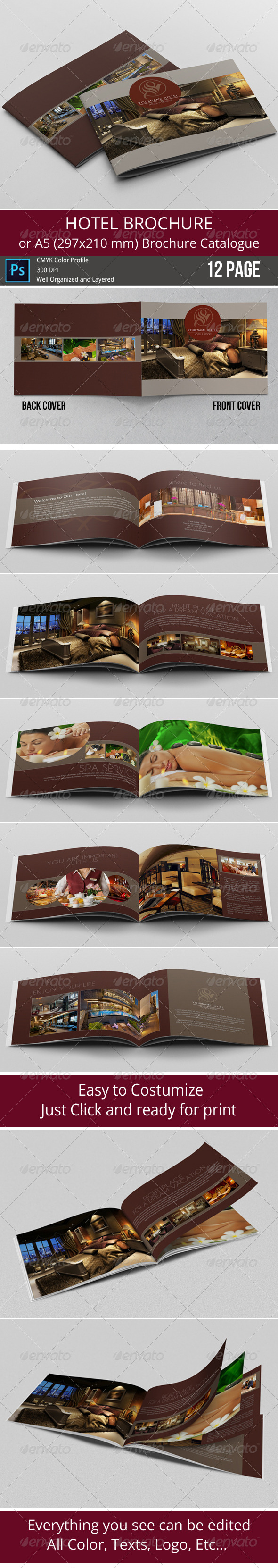 GraphicRiver Hotel Brochure Simple A5 Catalogue 8140053