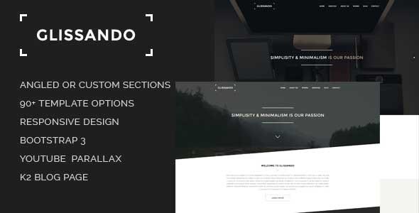 Glissando - Creative Multipurpose Joomla Template
