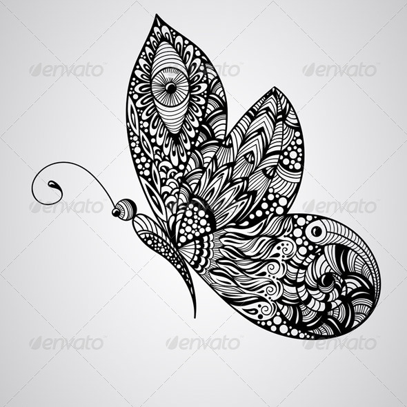 GraphicRiver Vector Butterfly 8140927
