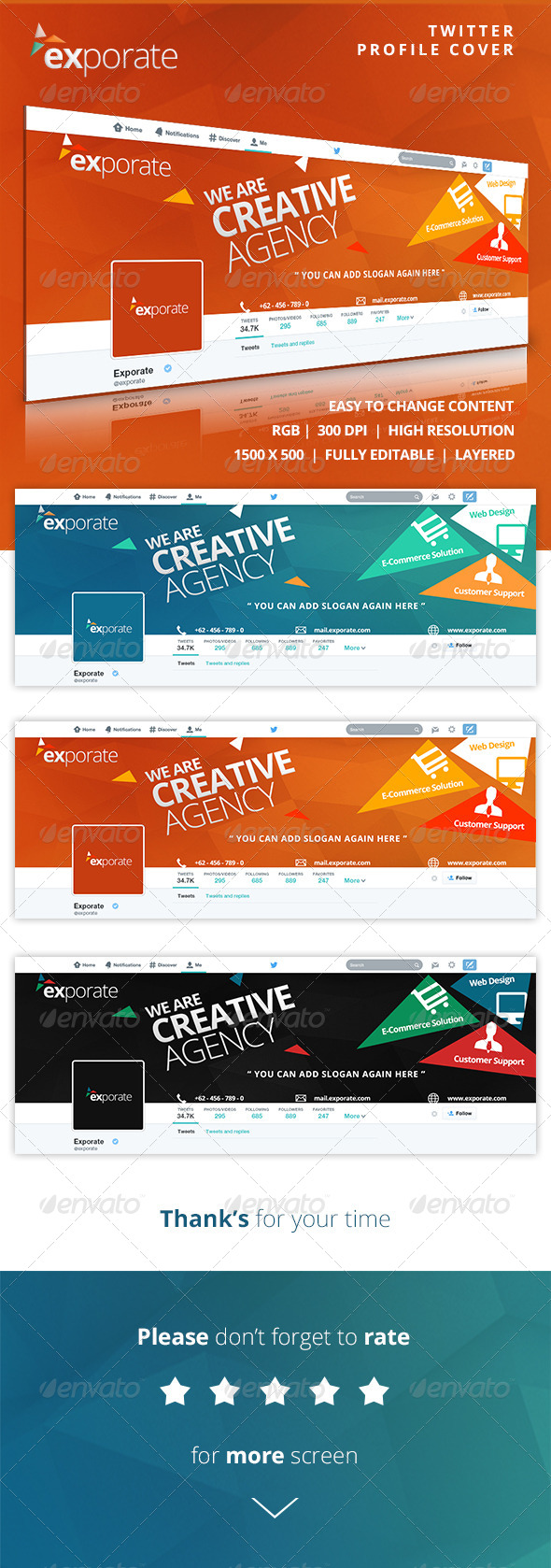 GraphicRiver Exporate Twitter Profile Cover 8141021