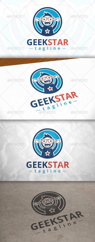 GraphicRiver Geek Star Logo 8141262
