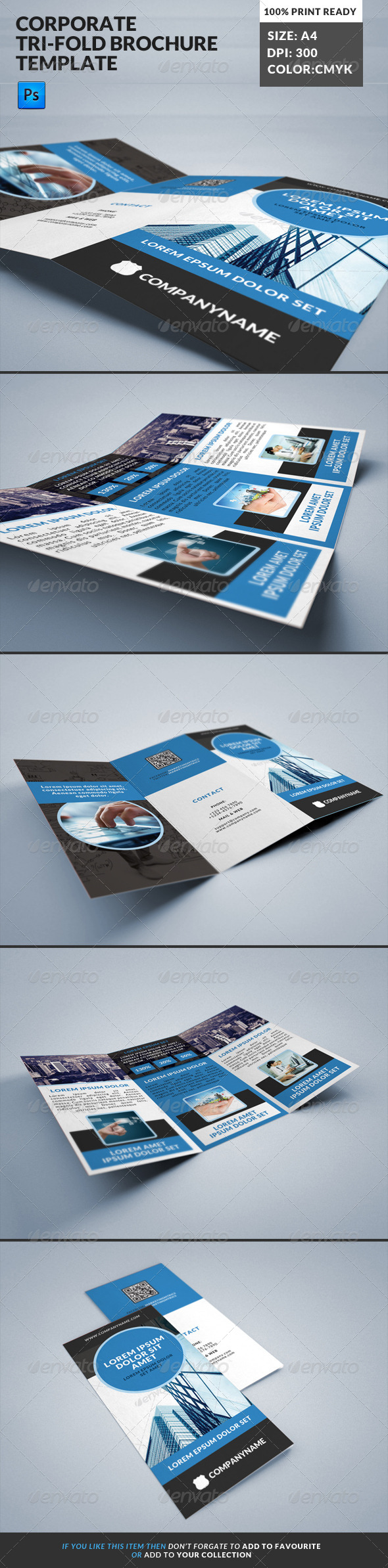GraphicRiver Corporate Tri-Fold Brochures Template 11 8141529
