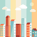 City illustration in flat simple style - PhotoDune Item for Sale