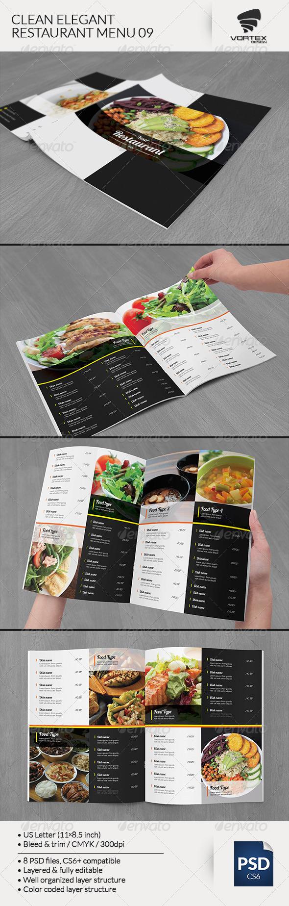 GraphicRiver Clean Elegant Restaurant Menu 09 8135136