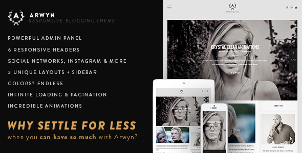 ThemeForest Arwyn A Charming Personal WordPress Blog Theme 8070813