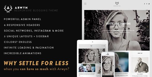 Arwyn - A Charming Personal WordPress Blog Theme