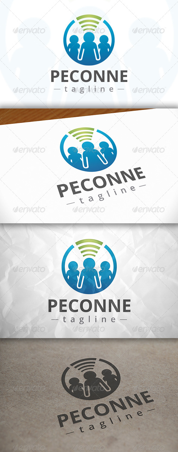GraphicRiver People Connect Logo 8142457