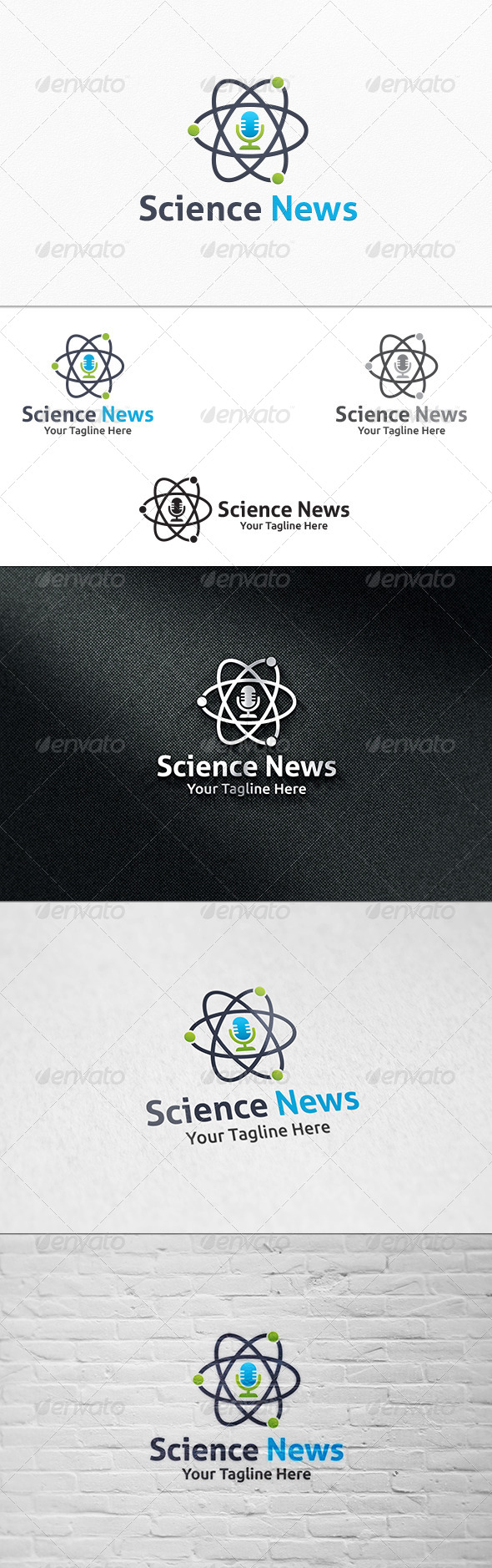 GraphicRiver Science News Logo Template 8142481