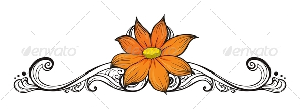 GraphicRiver Flower Border 8142598