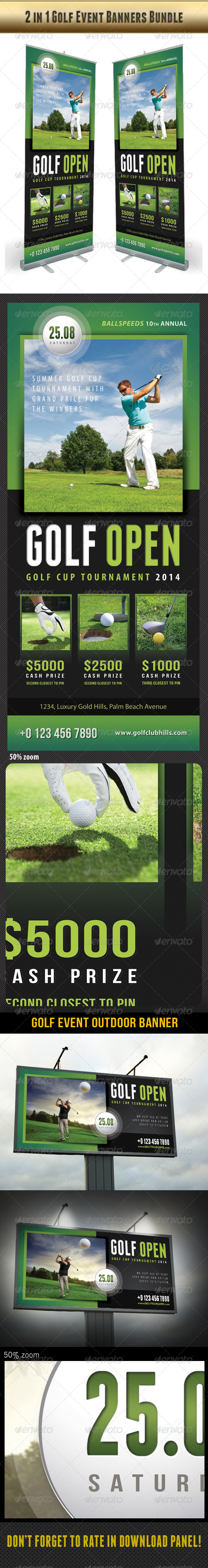 GraphicRiver 2 in 1 Golf Event Banners Bundle 02 8142643