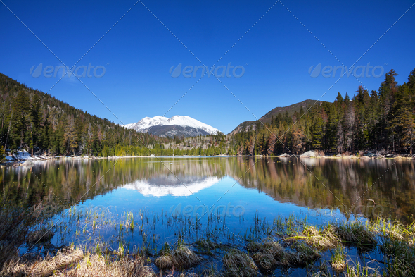 Mountains lake - Stock Photo - Images