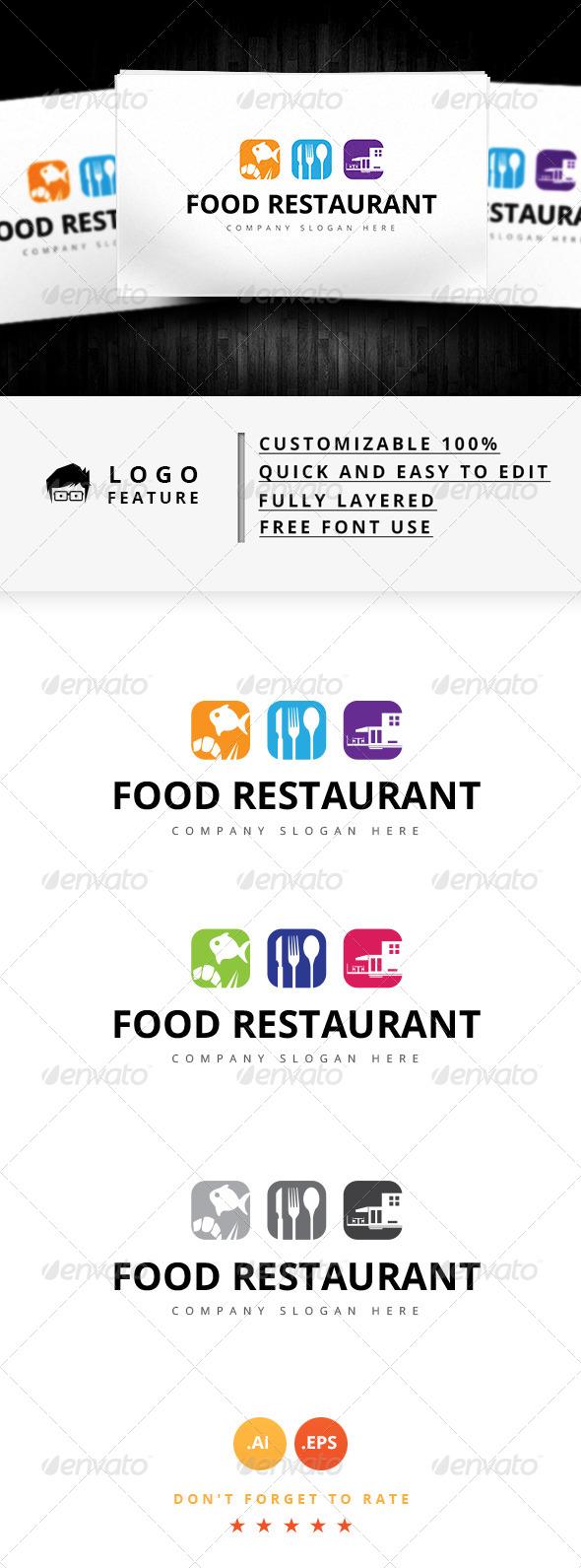 GraphicRiver Food Restaurant Logo 8142679