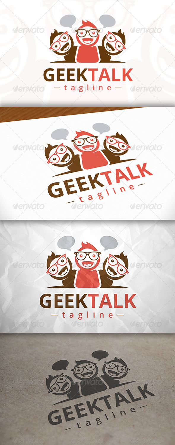 GraphicRiver Geek Talk Logo 8142857