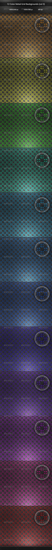 GraphicRiver 12 Color Metal Grid Backgrounds vol 3 8143114