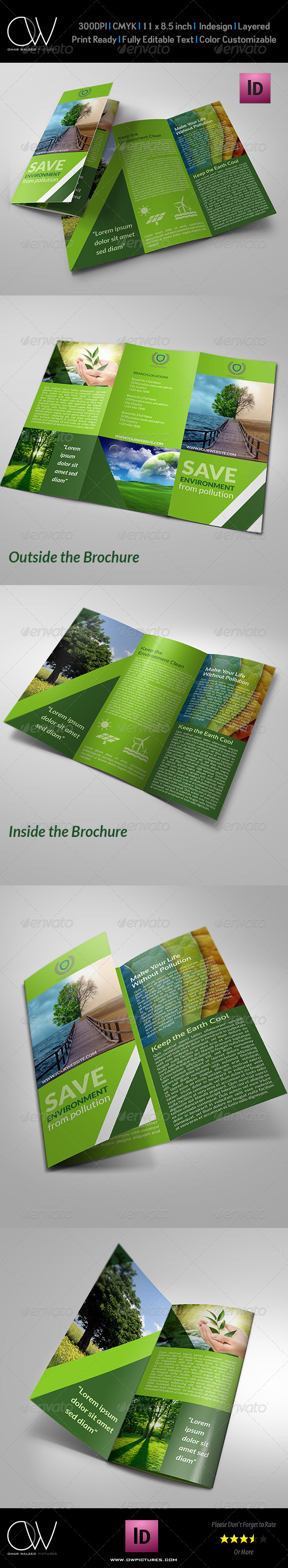 GraphicRiver Environment Tri-Fold Brochure 8138555