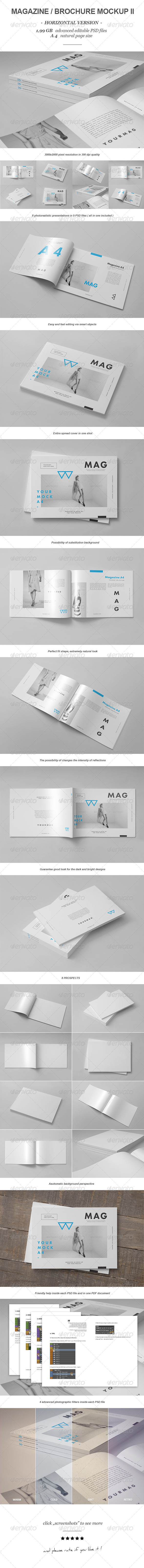 GraphicRiver Horizontal Magazine Brochure Mock-up II 8143375