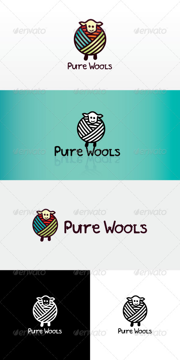GraphicRiver Pure Wool Stock Logo Template 8143430
