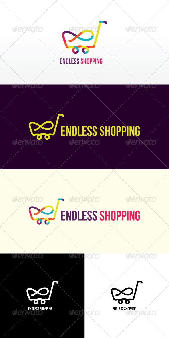 GraphicRiver Endless Shopping Stock Logo Template 8143445