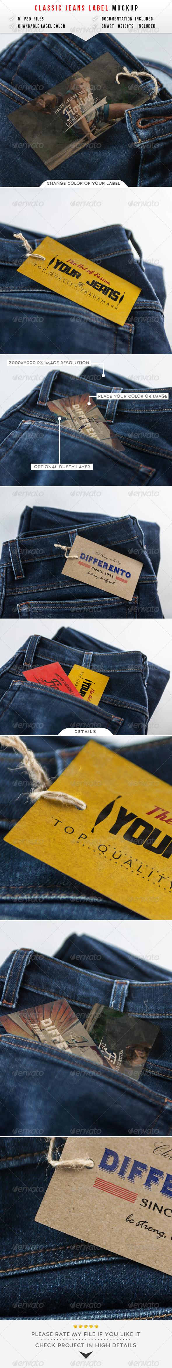 GraphicRiver Jeans Label Mockup 8143458