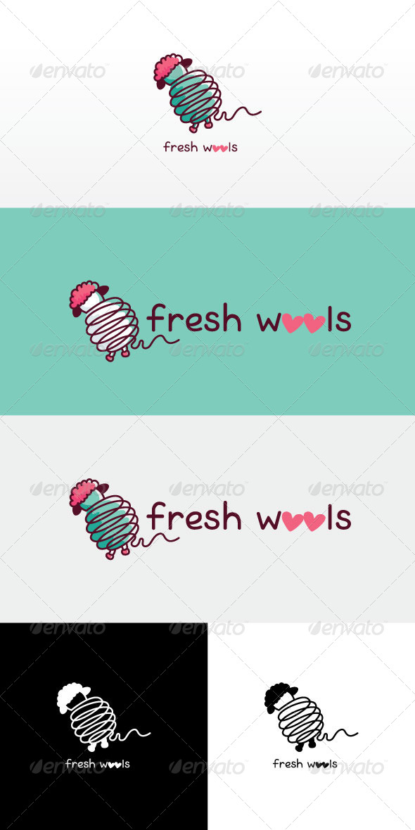 GraphicRiver Fresh Wools Stock Logo Template 8143492