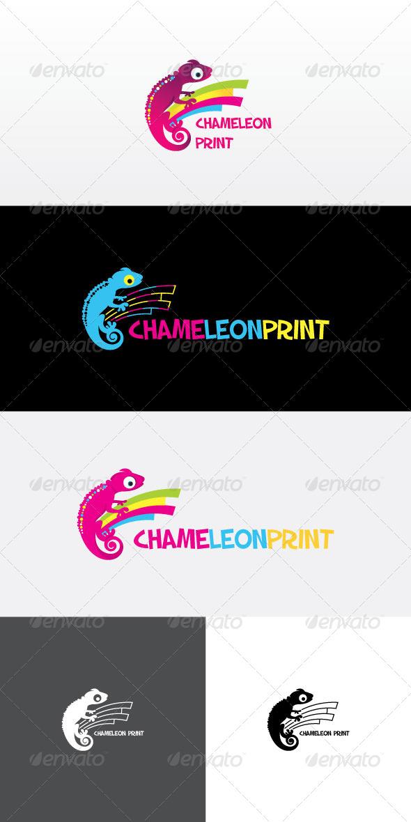 GraphicRiver Chameleon Print Stock Logo Template 8143499