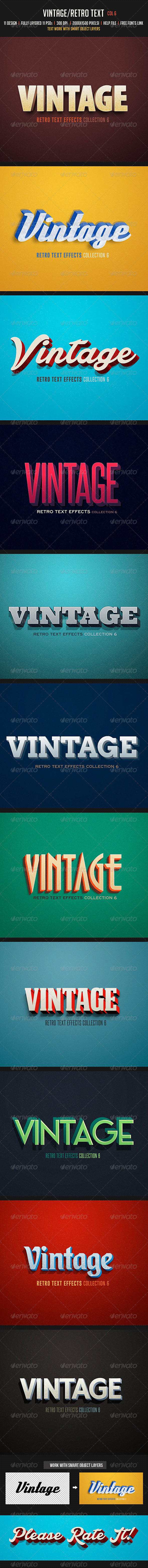 GraphicRiver Vintage Retro Text Col 6 8143607