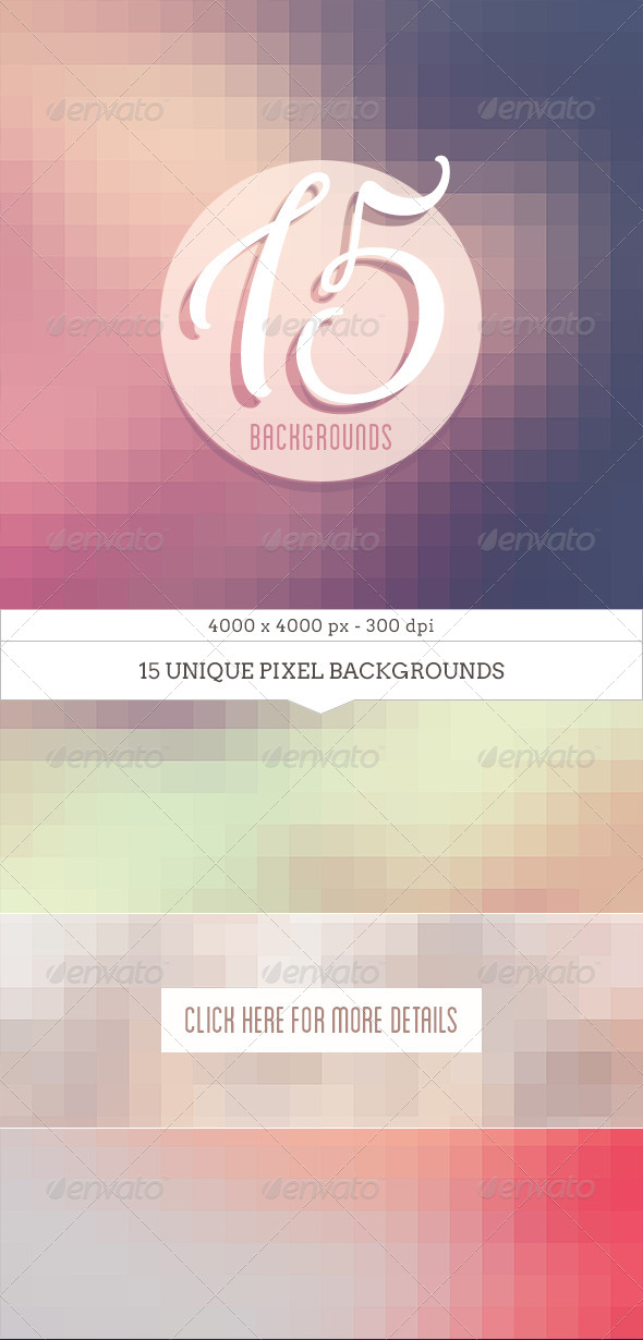GraphicRiver Soft Pixel Backgrounds 8143632