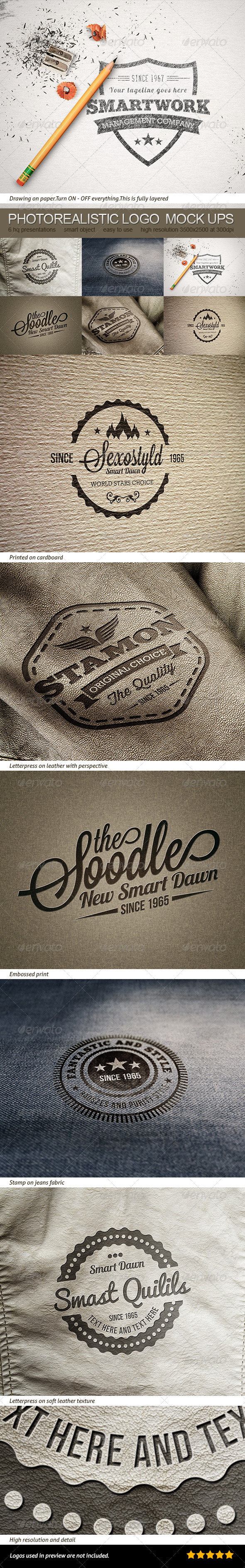 GraphicRiver Photorealistic Logo Or Badge Mock Ups 8144084