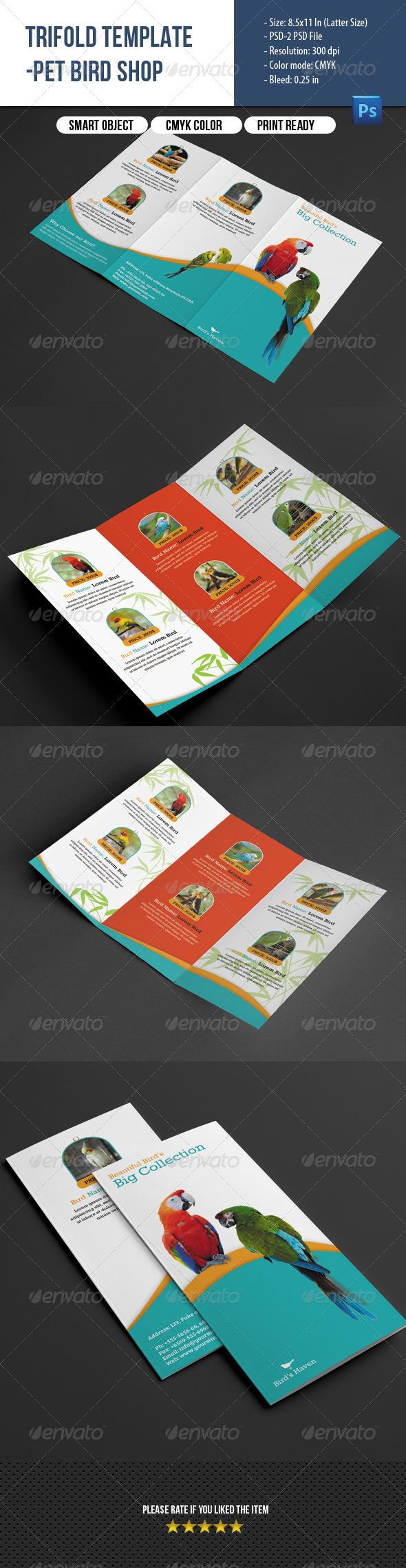 GraphicRiver Trifold Brochure-Pet shop 8144116