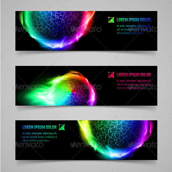 GraphicRiver Flaming Banners 8144325