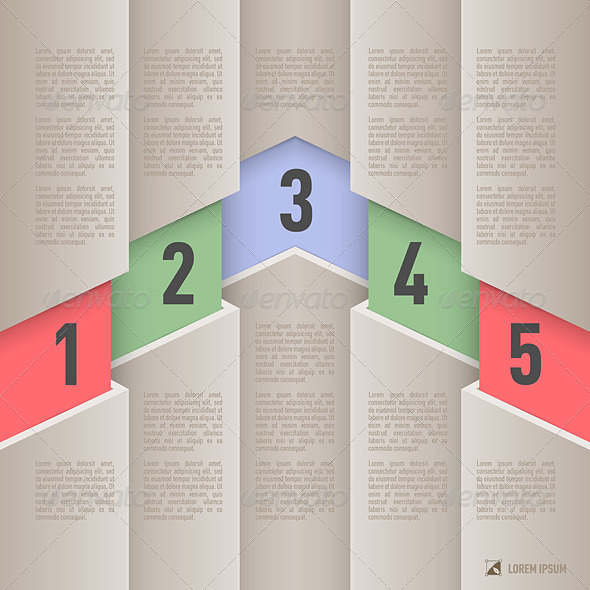 GraphicRiver Paper Style Infographics 8144346