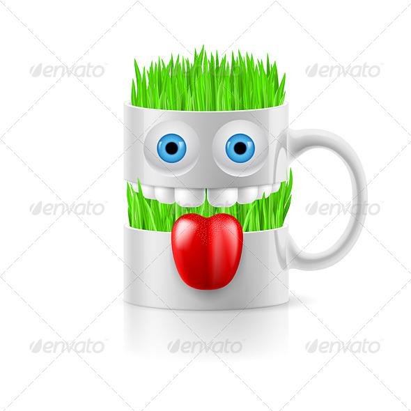 GraphicRiver Cartoon Mug with Grass 8144365